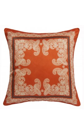 "Cushion ""decor foliage"" Orange 40 x 40"