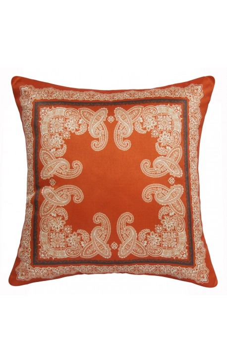 "Cushion ""decor foliage"" Orange 40 x 40"
