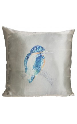 "Cushion ""Kingfisher"" Gray 40 x 40"
