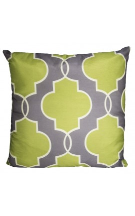 "Cushion ""Green Design"" Grey 40 x 40"