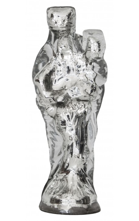 Vierge à l'enfant en verre mercurisé