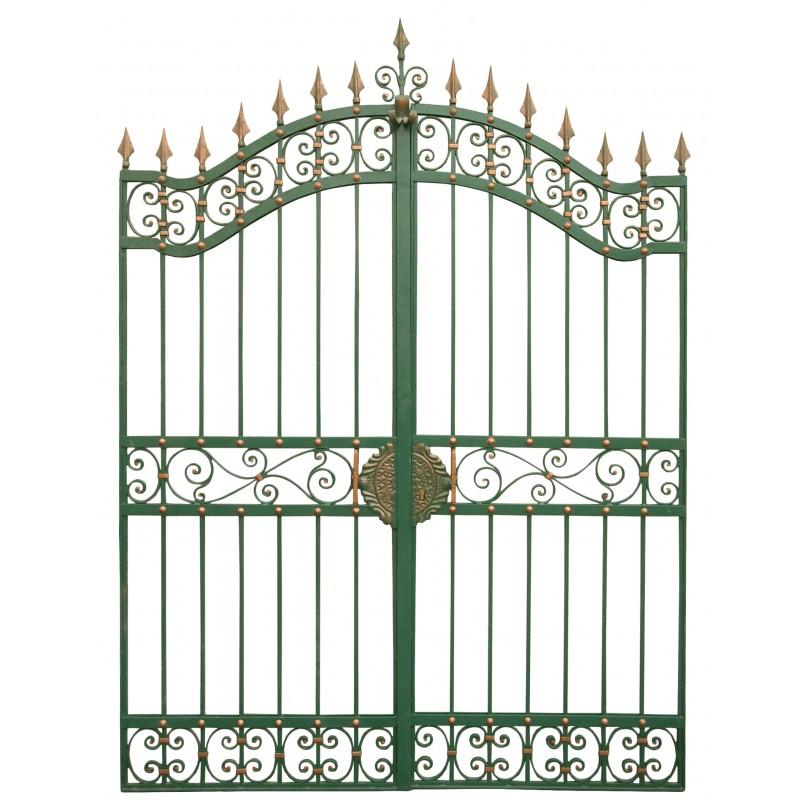Portail de ch teau baroque en fer forg avec deux vantaux 2m for Dessin portail fer forge