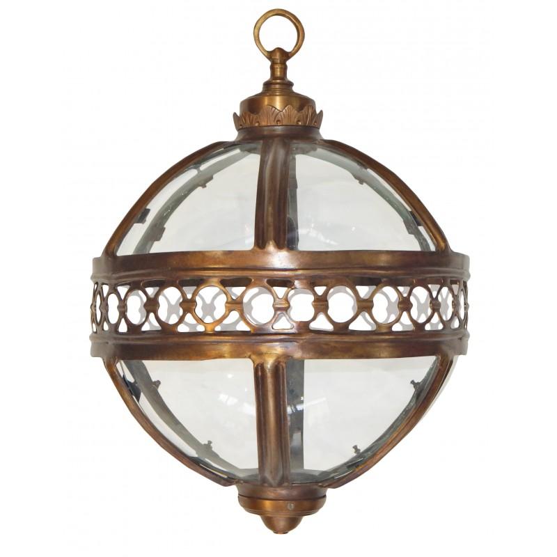 lanterne ronde de hall d 39 entr e en bronze patin 40 cm. Black Bedroom Furniture Sets. Home Design Ideas