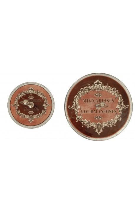 Set of two vintage style servants enamelled glass