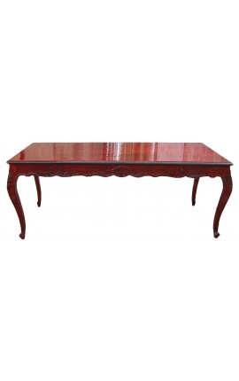 Baroque dining table mahogany-stained wood