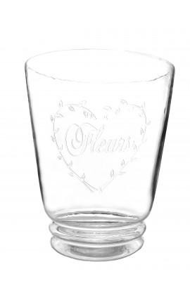 """Vase avec décor en forme de coeur en verre soufflé """"Fleurs"""""""