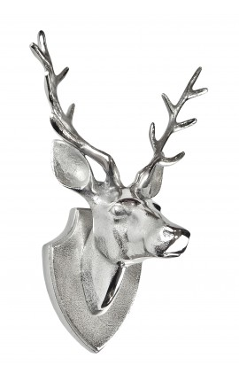 "Aluminum wall decoration trophy ""head deer with antlers"""