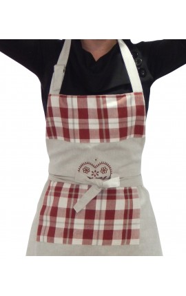 "Cooking apron Vintage style ""Matterhorn Embroidered"""