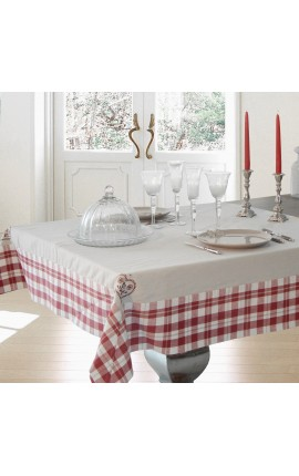 "Tablecloth Vintage Style ""Embroidered Matterhorn"" 150 x 250"