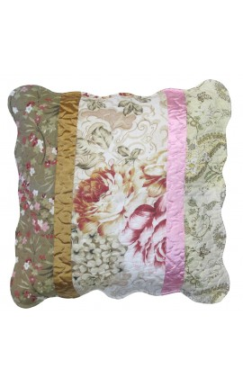 "Cushion cover ""Fleurette"" different designs on both sides"
