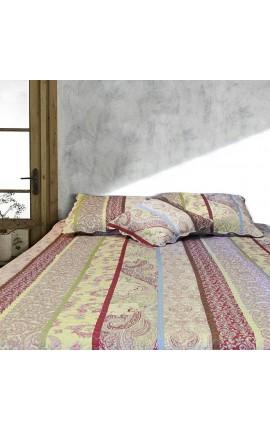 """Jeté de lit en Boutis """"Cachemire"""" 240 x 220"""