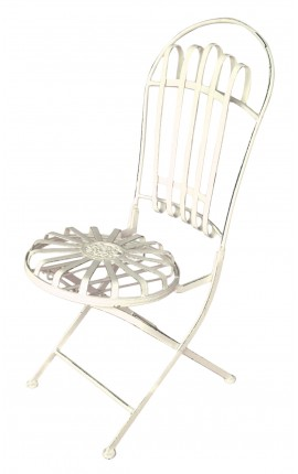 "Wrought iron chair. Collection ""Elegance"""