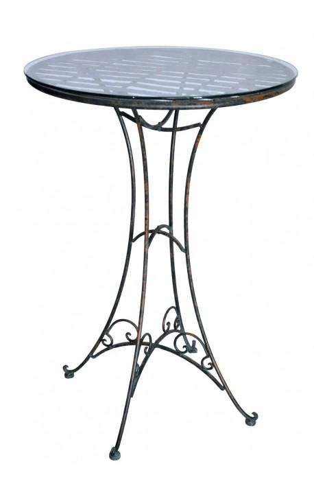Wrought Iron Bar Table Collection Verdigri