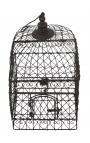 Ensemble de deux cages carrées en fer forgé