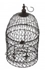 Set of two round wrought iron cages