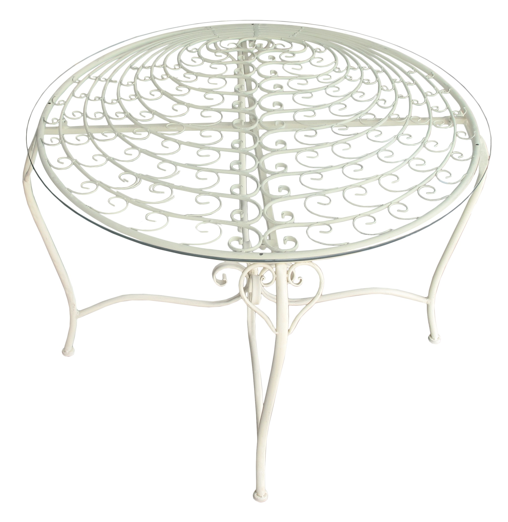 Wrought iron table collection peacock
