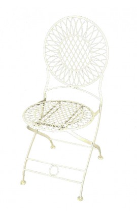 "Wrought iron beige chair. Collection ""Umbrella"""