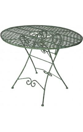 """Table de repas pliante en fer forgé. Collection """"Chêne"""""""