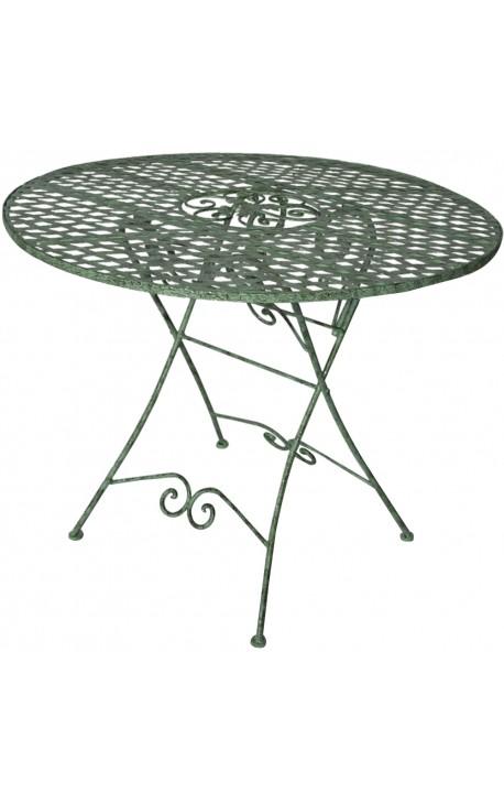 Table de repas pliante en fer forg collection ch ne for Table exterieur pliante fer