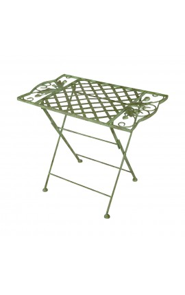 "Folding table for kids in wrought iron. Collection ""Oak"""