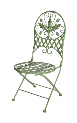"Folding chair for kids in wrought iron. Collection ""Oak"""