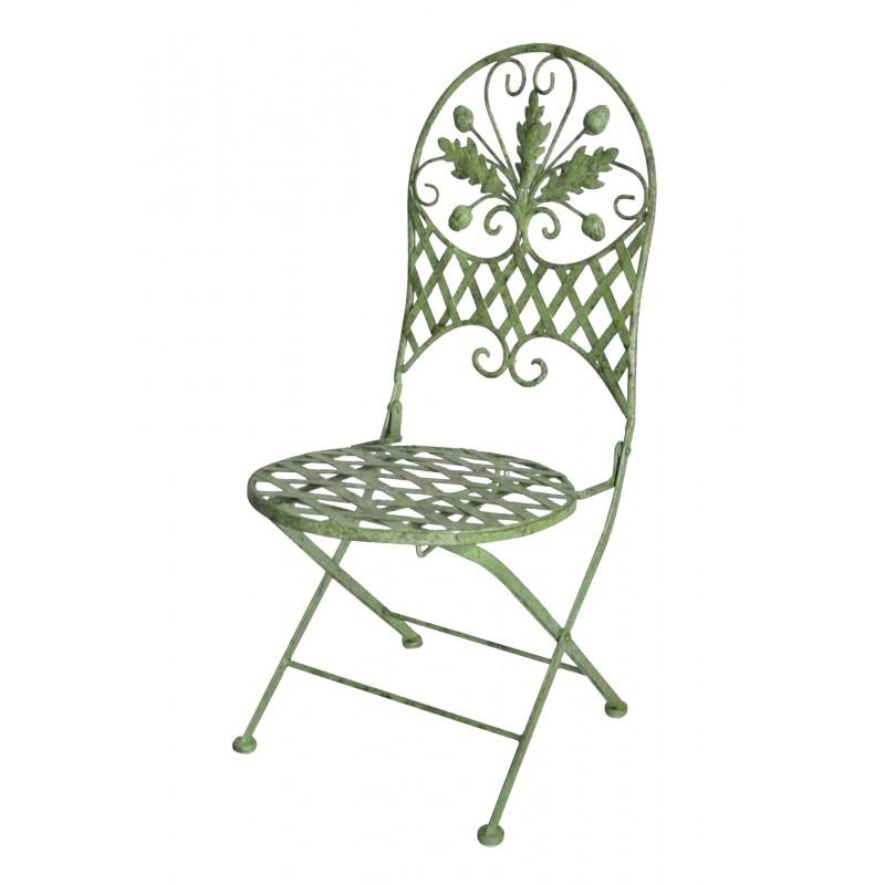 chaise pliante pour enfant en fer forg collection ch ne. Black Bedroom Furniture Sets. Home Design Ideas