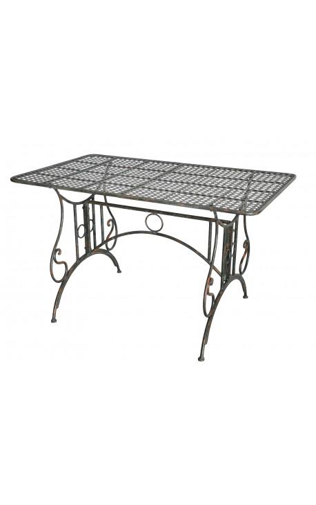 """Table de repas en fer forgé. Collection """"Vert-De-Gris"""""""