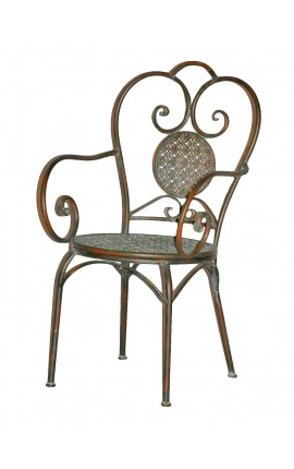 "Wrought iron armchair. Collection ""Verdigris"""