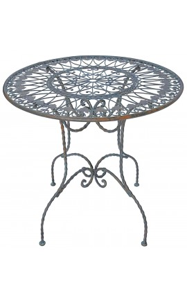 "Dinner table in wrought iron. Collection ""Notthing Hill"""