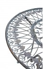 """Pedestal table in wrought iron. Collection """"Verdigris"""""""