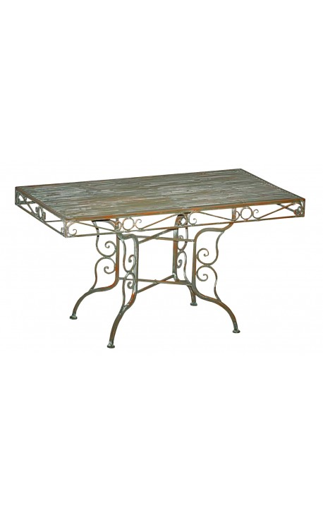 Table exterieur en fer table ronde tradition 2 chaises 2 - Table fer forge exterieur ...
