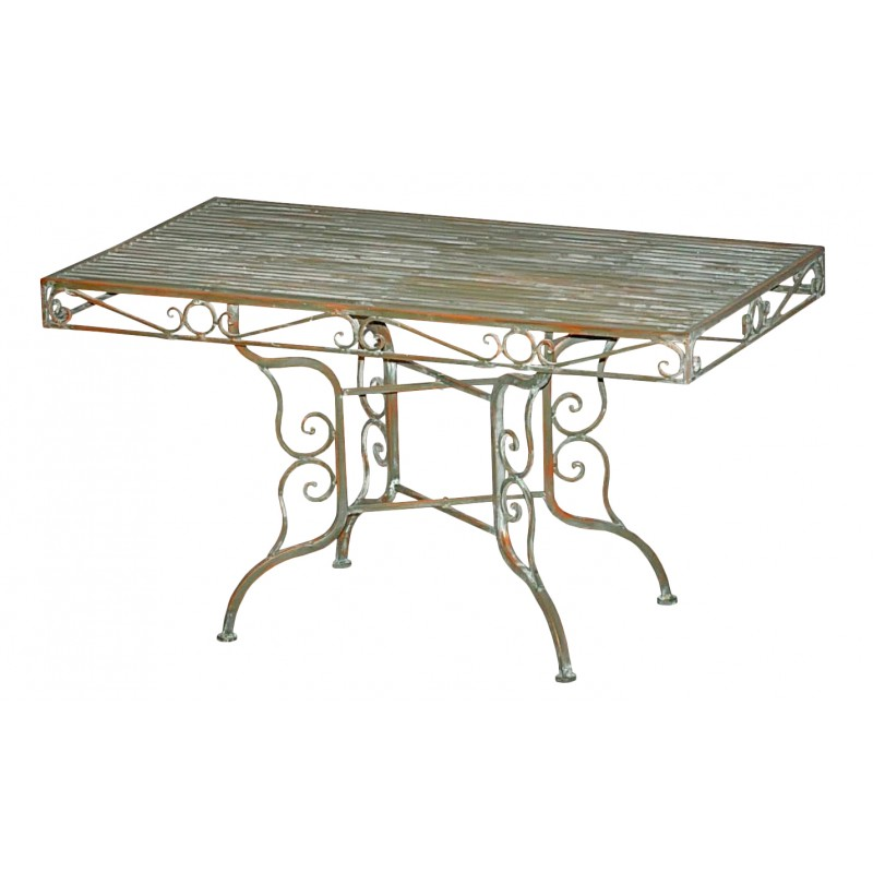 Coffee Table In Wrought Iron Collection Verdigris