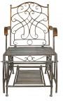"""Rocking chair en fer forgé. Collection """"Vert-De-Gris"""""""