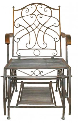 "Wrought iron rocking chair. Collection ""Verdigris"""