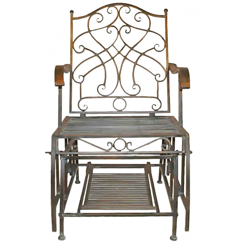 Wrought Iron Rocking Chair Collection Quot Verdigris Quot