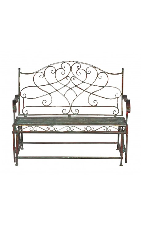 "Wrought iron swing bench. Collection ""Verdigris"""