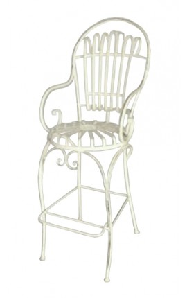 "Bar chair in wrought iron. Collection ""Elegance"""