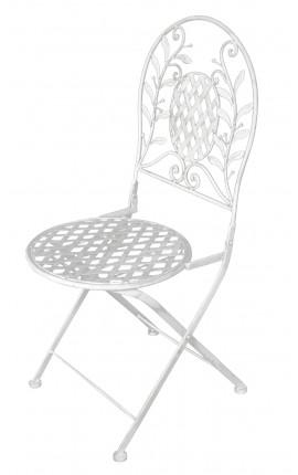 """Chaise pliante en fer forgé. Collection """"Olivier"""""""