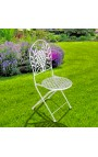 "Folding chair in wrought iron. Collection ""Olivier"""