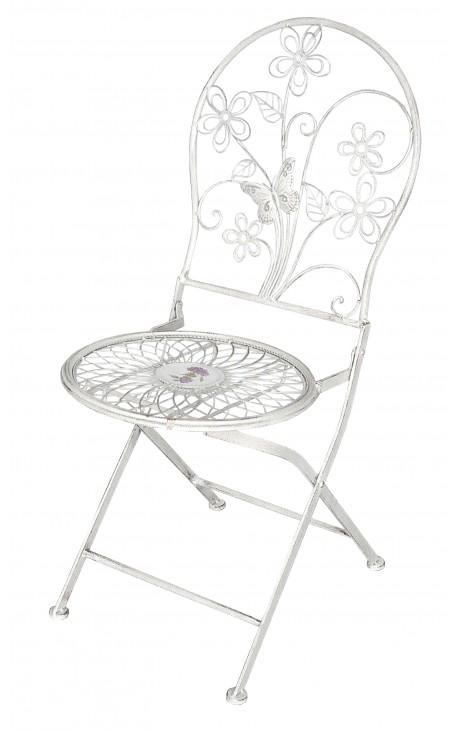 Chaise Pliante En Fer Forg Collection Mdaillon Fleuri