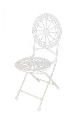 "Folding chair in wrought iron. Collection ""Lily flowers"""