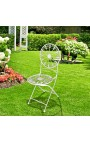 """Folding chair in wrought iron. Collection """"Lily flowers"""""""