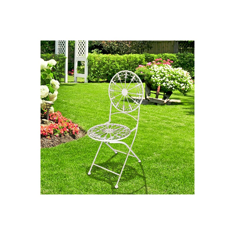 Folding Chair In Wrought Iron Collection Quot Lily Flowers Quot