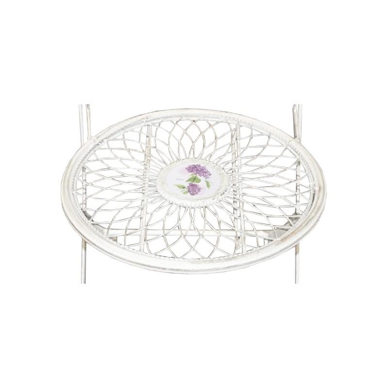 chaise pliante en fer forg collection m daillon fleuri. Black Bedroom Furniture Sets. Home Design Ideas