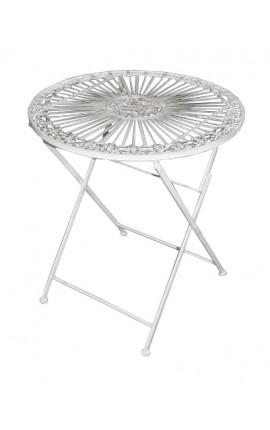 """Складной стол из кованого железа. Коллекция """"цветок лилии"""""""
