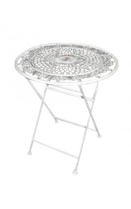 "Folding dinner table wrought iron. Collection ""Floral Medallion"""