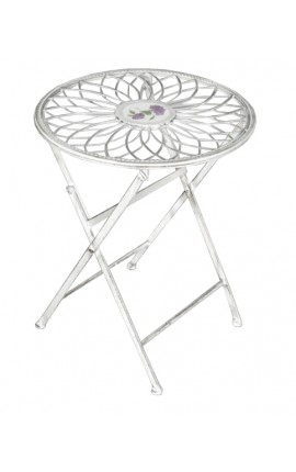 "Folding side table wrought iron. Collection ""Floral Medallion"""