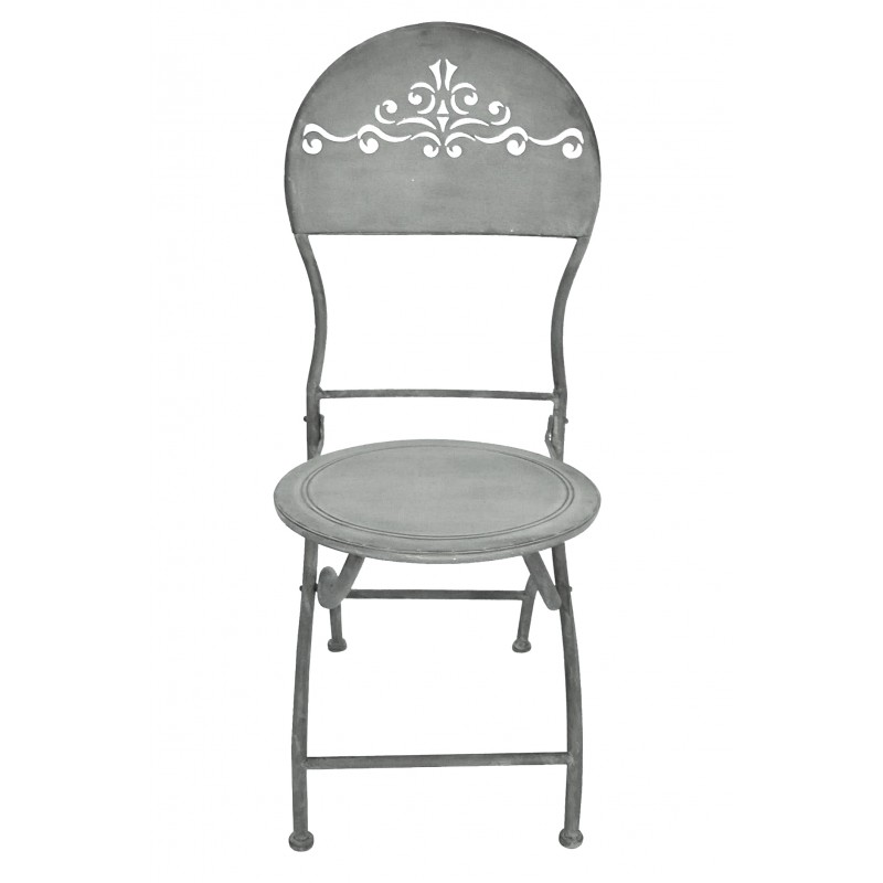 Folding Chair Wrought Iron Openwork Back Collection Quot Zinc Quot