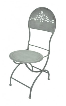 "Folding chair in wrought iron. Collection ""Zinc"""