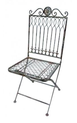 """Chaise pliante en fer forgé. Collection """"Récamier"""""""
